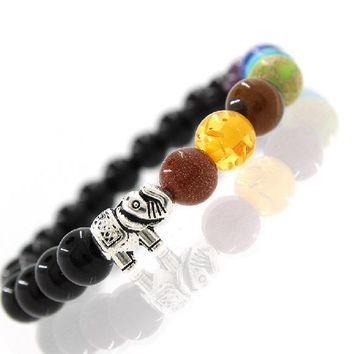 Elephant Charms Yoga Nomination Braclet For Men