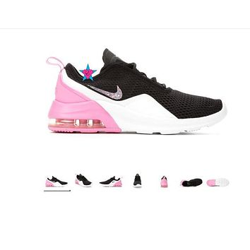Bling Shoes for Girls | Nike Max Motion 2 Pink Black | 3.5-7