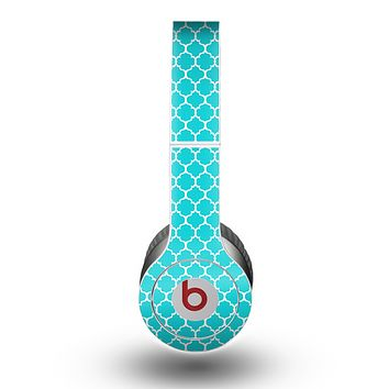 The Teal And White Seamless Morocan Pattern copy Skin for the Beats by Dre Original Solo-Solo HD Headphones