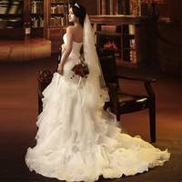 bride wedding dress Sweet Princess lace mermaid dress 2015 new