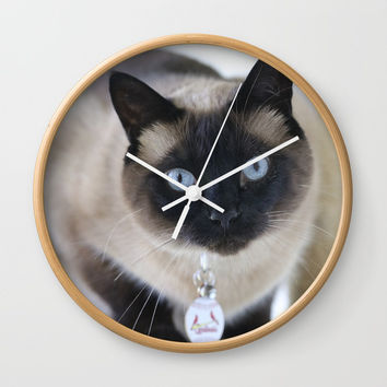 Innocent Expression Wall Clock by Theresa Campbell D'August Art