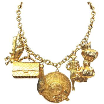 Chanel Gold Plated Charm Necklace