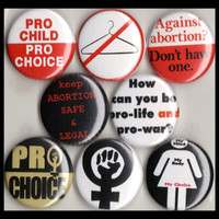 "8 Brand New 1"" ""Pro Choice"" Button Set"