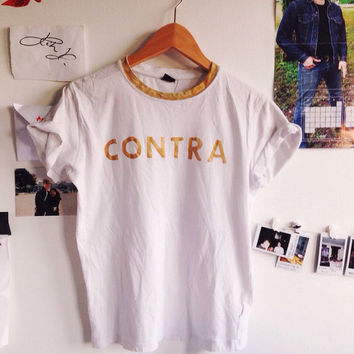 LIMITED EDITION Handpainted CONTRA vampire weekend t-shirt