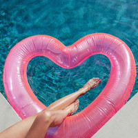 Beach, Please! Neon Pink Jumbo Heart Inner Tube