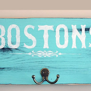 Hand-Painted Rustic|Shabby Chic|Antiqued-Personalized Rustic Coat Hanger