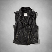 Vegan Leather Moto Vest