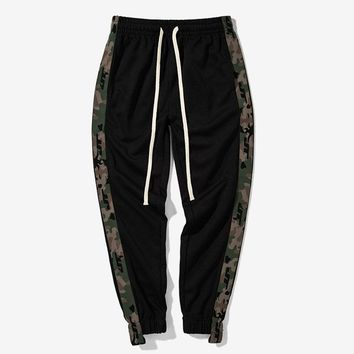 Mens Joggers Camouflage Harem Pants Men Track Pants Long Trousers Men Sweatpants Loose Pants Men Track Pants With Side Stripe