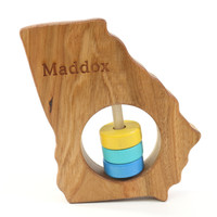 Georgia State Wooden Baby Rattle™