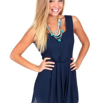 Luck Be A Lady Navy Romper | Monday Dress Boutique