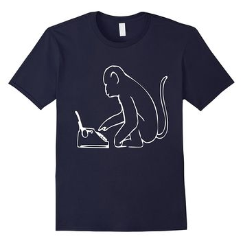 Monkey Typewriter T-Shirt Infinity William Shakespeare Tee