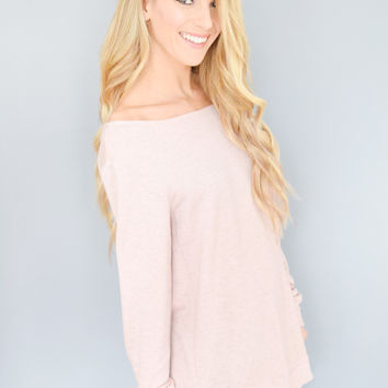 American Nights Rose Comfy Top