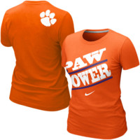 Nike Clemson Tigers Women's Paw Power Local T-Shirt - Orange