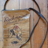 Rockmount Brown RRW Bronc Leather Purse 6x9