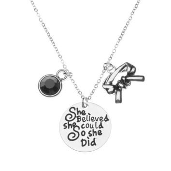 Martial Arts She Believed She Could So She Did Black Belt Necklace