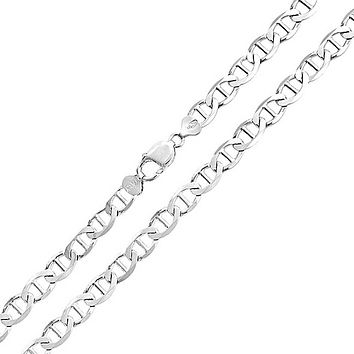 Solid Mariner Anchor Link Chain 180 Gauge Necklace Sterling Silver