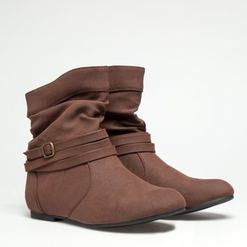 Ruched Wrap Buckle Booties | Fashion Boots | rue21