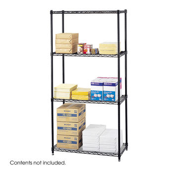 Safco Office Industrial Garage Commercial 18 x 36 Wire Storage Shelving Starter Unit Black