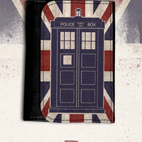 big leather wallet Doctor Who / TARDIS / union jack