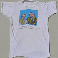 Mr. Rodgers And Captain Kangaroo Vintage Shirt Creepy Weird Kids TV Show T-Shirt  Size X-Small
