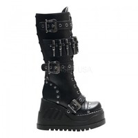Bullet Stomp Mid-Calf Womens Boot - Demonia Gothic Shoes & Boots from ShoeOodles
