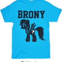 My Little Pony Brony Turquoise Blue Mens T-Shirt - My Little Pony - Free Shipping on orders over $60 | TV Store Online