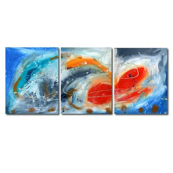 """'Breeze'  - 48"""" X 20"""" Original Abstract  Art. Free-shipping within USA & 30 day return Policy."""