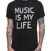 Music Is My Life Chalk T-Shirt