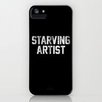 Starving Artist Dirty Distressed Black and White iPhone & iPod Case by RexLambo