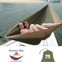 "Hammock Bliss Double - XL Portable Hammock - 100"" Rope Per Side Included - Ideal For Camping, Backpacking, Kayaking & Travel"