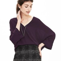 Banana Republic Dolman Faux Wrap Blouse