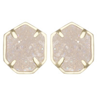 Kendra Scott Taylor Stud Earrings - Iridescent Drusy