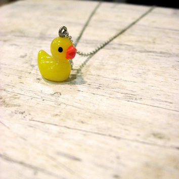 My Rubber Ducky Necklace by sodalex on Etsy