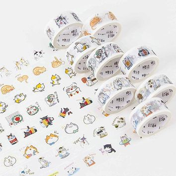 2cm*5m Cute animal cat washi tape DIY decoration scrapbooking planner masking tape adhesive tape label sticker stationery 08