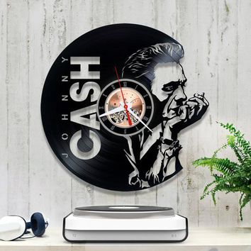 Johnny Cash Vinyl Record Wall Clock