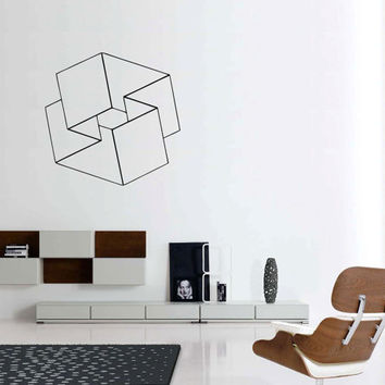 Optical Illusions Mobius Square vinyl wall sticker decal geometric art