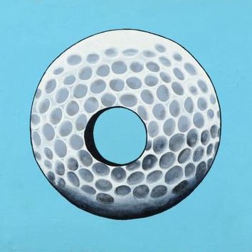 Hole in One - Original Acrylic Painting on Canvas Board by Tom Pergola