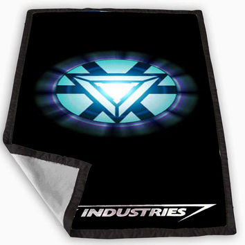 Iron Man Arc Reactor Stark Industries Blanket for Kids Blanket, Fleece Blanket Cute and Awesome Blanket for your bedding, Blanket fleece *