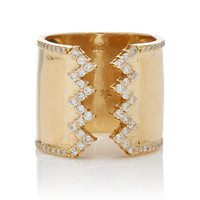 White Diamond Jagged Edge Ring | Moda Operandi