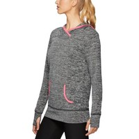 RBX Active Women's Hacci Pullover Hoodie with Ribbed Trim - Walmart.com