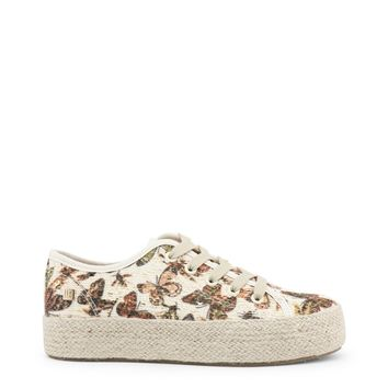 Laura Biagiotti Brown Round Toe Sequin Sneakers