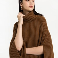 SADIE BROWN CAPE SWEATER