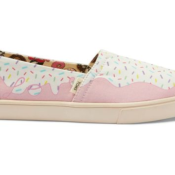 TOMS - Women's Cupsole Venice Collection Classics Multi Randy's Donut Sprinkle Slip-Ons