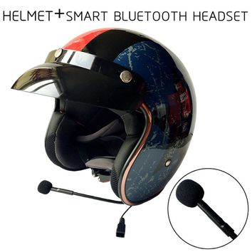 Built-in Bluetooth Motorcycle Helmet BT Headset with Double Lens for Mp3/Phone Taking/GPRS CG510-L1