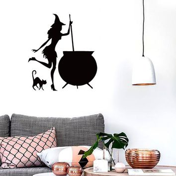 Wall Stickers Vinyl Decal Witch Cauldron Witty Decor for Kitchen Unique Gift (ig717)