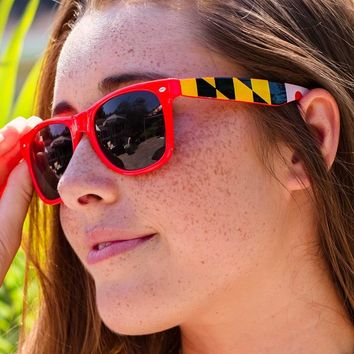 Maryland Flag Stretch Sides (Red) / Shades