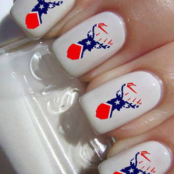 Rebel Flag Deer Head Nail Decals