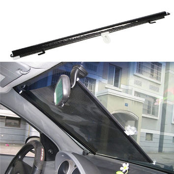 Car Window Retractable Sunshade windshield Auto Curtain Shade Cover 125x58cm