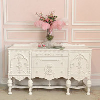 SOLD 8416 - Stunning Chic 1920s White Buffet - $995 - The Bella Cottage