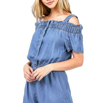 Lakeside Chambray Romper